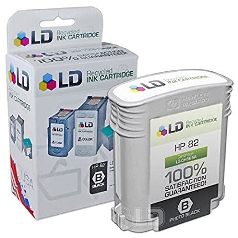 LD © Remanufactured Replacement for HP 82 / CH565A Black Inkjet Cartridge for HP DesignJet 111, and 510 - Designjet 510 Printer