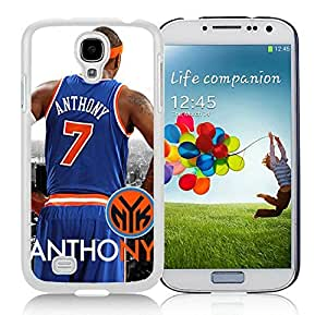 New Custom Design Cover Case For Samsung Galaxy S4 I9500 i337 M919 i545 r970 l720 New York Knicks Anthony 1 White Phone Case