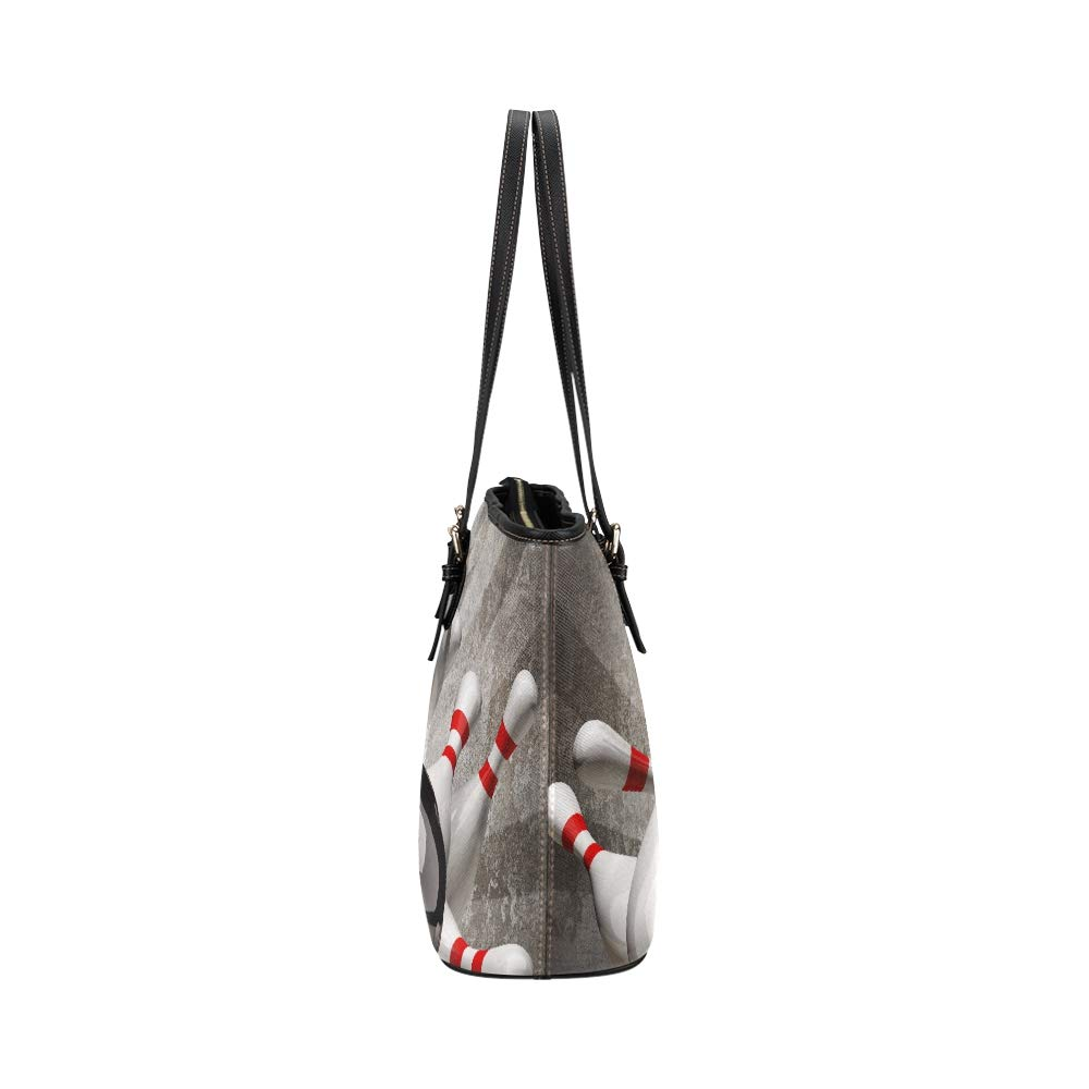 Bowling Ball Entertainment Sport Large Soft Leather Portable Top Handle Hand Totes Bags Causal Handbags With Zipper Shoulder Shopping Purse Luggage Organizer For Lady Girls Womens Work