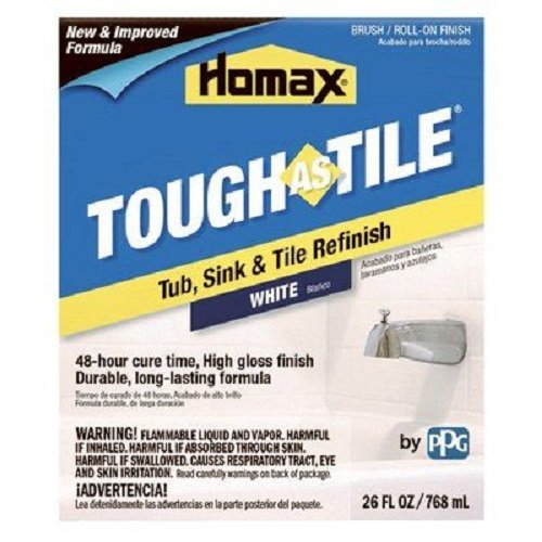 (Homax 720773 Tub & Sink Brush-On One-Part Epoxy, 26-Ounce White)