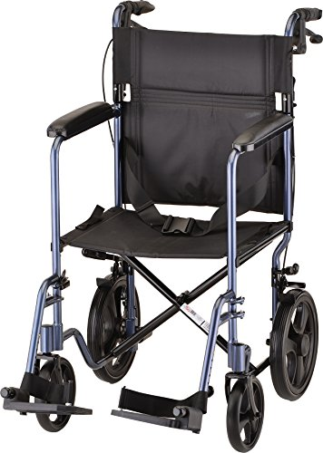 NOVA Lightweight Transport Chair with Locking Hand Brakes, 12