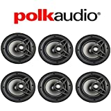 Polk Audio V80 High Performance Vanishing In-Ceiling Loudspeakers (6 Pack)