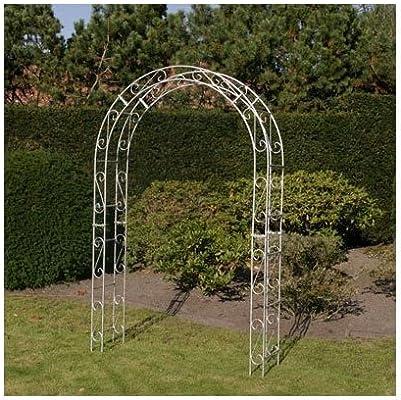 Pérgola, Rose arco con decoración, de hierro galvanizado color ...