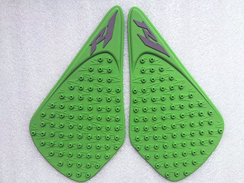 3D Green Dots Gas Fuel Tank Traction Pad Anti Side Slip Protector For YAMAHA YZF R1 07-08 ()