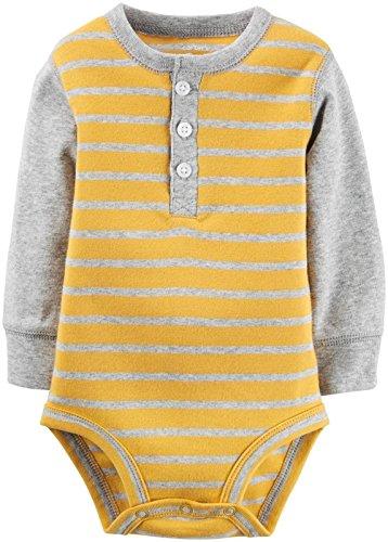 (Carter's Baby Boys' Single Bodysuit 118g771, Yellow, 6)