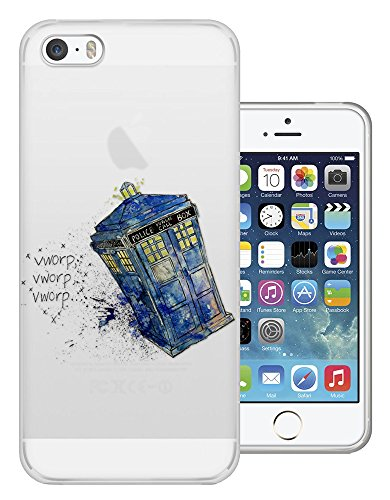 C0684 - Doctor Who Police Box Sketch Flying Through Space Design iphone SE - 2016 Fashion Trend Silikon Hülle Schutzhülle Schutzcase Gel Rubber Silicone Hülle