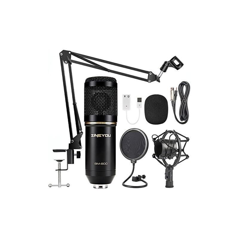 ZINGYOU Condenser Microphone Bundle, BM-