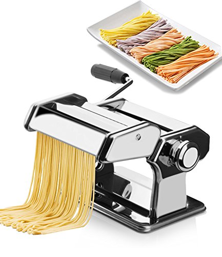 SL&MTJ Stainless Steel Double Cutter Pasta Maker Machine,Head Pressing Machine Household Manual Pasta Machine Split Type Kneading Machine Dumpling Skin Pressing - Pasta Cutter Double Machine