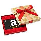 Amazon.ca $50 Gift Card in a Gold Hearts Box