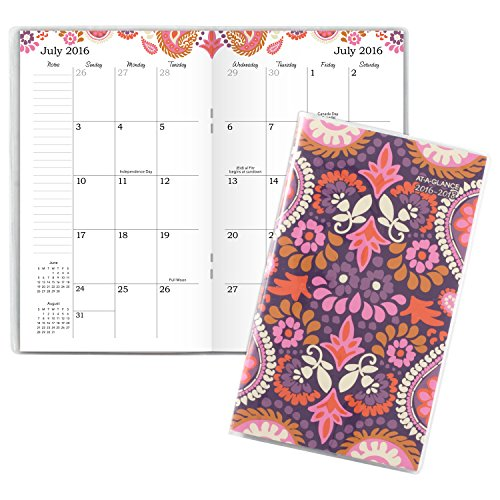 AT-A-GLANCE Academic Year Monthly Pocket Planner / Appointment Book, July 2016 -July 2018, 2 Year, 3-5/8