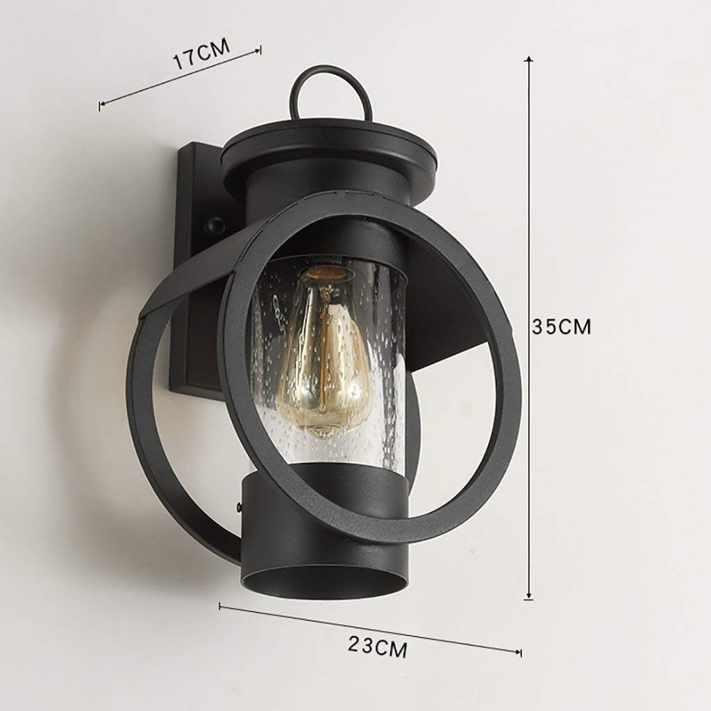 HH Muebles para el hogar Estilo Industrial Decoración Retro Lámpara de Noche Estilo Americano Sala de Estar Dormitorio Lámpara de Pared Lámparas de Hierro Luz