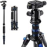 Tycka カーボン製カメラ三脚 1.3kg超軽量5段 全高148cm 8kg耐荷重 旅行用三脚 一脚可変式 自由雲台付き デジタルカメラ 一眼レフカメラ Canon Nikon Petax Sony Lumix Olympusなど用