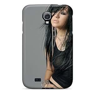 Galaxy S4 Hard Back With Bumper Silicone Gel Tpu Case Cover Christina Aguilera