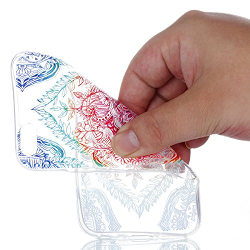 iPhone 6 / 6S Plus Hülle , Modisch Schmetterlings-Blume Entlastung Transparent TPU Silikon Schutz Handy Hülle Handytasche HandyHülle Etui Schale Schutzhülle Case Cover für Apple iPhone 6 / 6S Plus