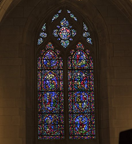 Photograph| Stained-glass window, one of 77, in the Duke University Chapel on the campus of the university in Durham, North Carolina 3 Fine Art Photo Reproduction 16in x 20in