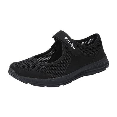 LUCKDE Damen Schuhe Sneakers, Klettschuhe Damenschuhe Atmungsaktiv  Turnschuhe Sportschuhe Rutschfeste Gymschuhe Outdoor Fitnessschuhe  Laufschuhe ... 2d309f849c
