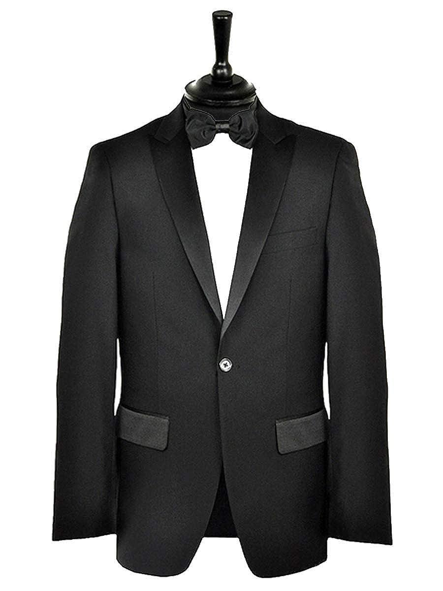 Chest 40 - Waist 32 Formal Tailor Mens Premium Black Tuxedo Dinner Suit Short Length