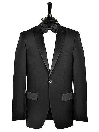 """9fd79ce24d4 Formal Tailor Premium Black Peak Lapel Tuxedo Dinner Suit Long (Chest  48"""" - Waist"""