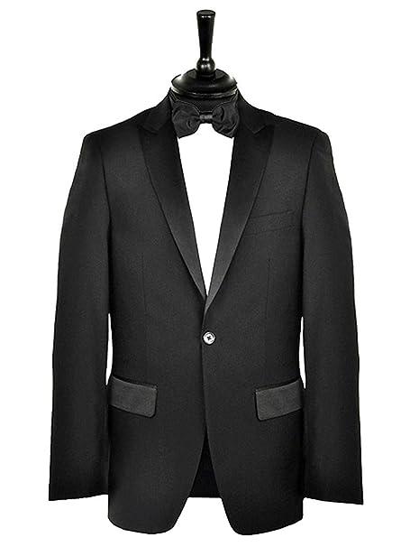db1dc2def58 Formal Tailor Mens Premium Black Tuxedo Dinner Suit longLength (Chest 58