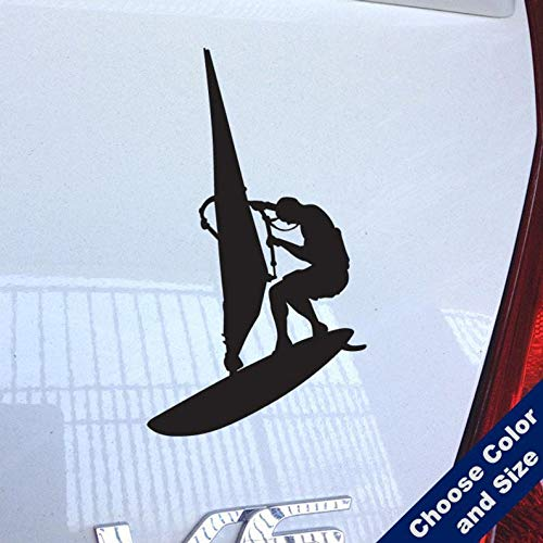 (BYRON HOYLE Windsurfer Decal - Surfing - for Laptop, Car, iPhone)