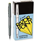 Pilot(R) Razor Point Pens, Extra-Fine Point, 0.3 mm, Black Barrel, Black Ink, Pack of 12 Pens