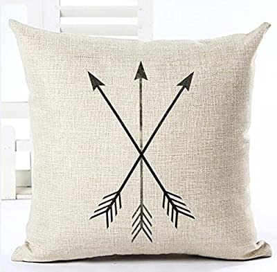 Feather Arrow Magic squares Cotton Linen Throw Pillow Case Cushion Cover Home Sofa Decorative 18 X 18 Inch ¡­