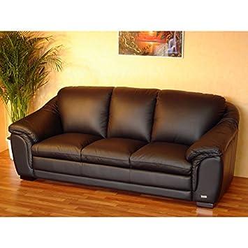 Designer Leder Sofa 3 Sitzer Garnitur Ledersofa Ledermöbel Couch Neu