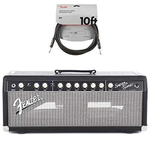 - Fender Super-Sonic 22 Head Black & Silver 120V 8 ohm Cable Bundle