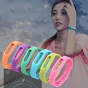 Caja protectora ARBUYSHOP colorido reemplazo pulsera de silicona banda reloj de la correa de muñeca Muñequera de cinta para Xiaomi Mi Banda SmartBand Miband