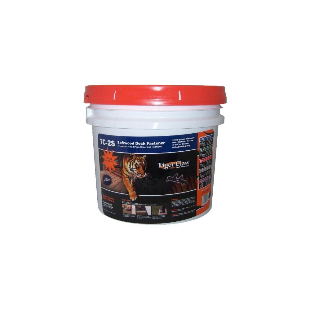 Tiger Claw TC-2S for Softwood - Bucket of 900 - With Screws and 4 Installation Block Tools