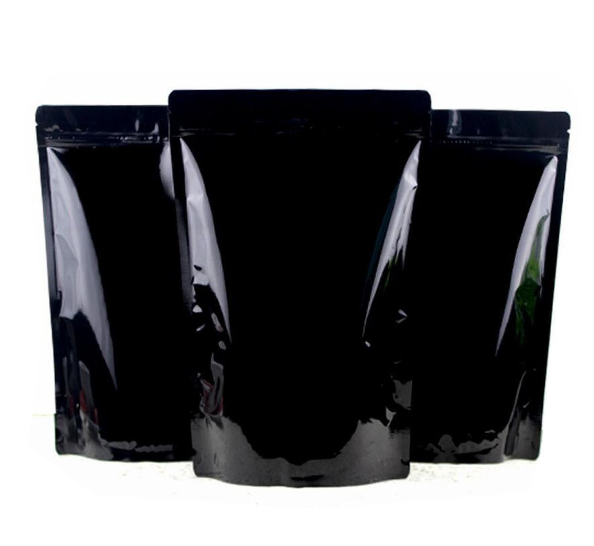 12Pcs Black Resealable Zip Mylar Bag Food Storage Aluminum Foil Bags Zip Lock Stand Up Food Pouches for Food Storage Bakery Candle Soap Cookie Snack Tea Powder Gift Basket Supplies size 20CMX30CM Ericotry