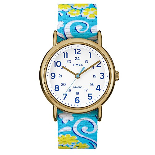 Price comparison product image Timex Weekender Full-Size Watch - Reversible Floral Swirl/White