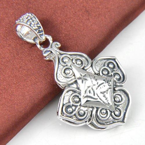 Nongkhai shop Woman Factor Great Vintage Silver Birds Carved Necklace Pendant - Carved Bird Pendant
