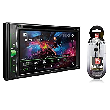 Pioneer In-Dash Double DIN 6.2 WVGA Display Built-in Bluetooth Multimedia DVD CD MP3 USB AM/FM Touchscreen Dual Phone Connection Car Stereo Receiver