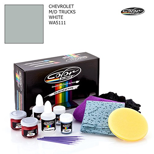 Chevrolet M/D Trucks/White - WA5111 / Color N Drive Touch UP Paint System for Paint Chips and Scratches/Basic Pack