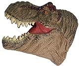 AomoriHaba Japan 3D Soft Large Rubber TRex Handpuppets - Tyrannosaurus Rex Dinosaur Head Dino Hand Puppet for Kids/Adults (Free Sticker)