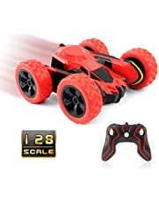 Rimila Electric RC Stunt Car 2WD Off Road Remote Control 2.4GHz Racing Vehicle LED Headlights Extreme High Speed 7.5MPH 360 Degree Rolling Rotation(Battery Not Included), Green