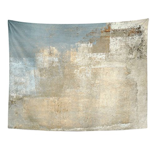 TOMPOP Tapestry Brown Contemporary Grey and Beige Abstract Painting Gray Modern Home Decor Wall Hanging for Living Room Bedroom Dorm 60x80 Inches