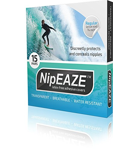NipEAZE (Extra) - 12pairs - The Original Transparent Nip Protector - Nipple Chafing - How To Size Wetsuit