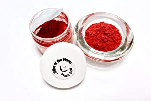 Slice of the Moon: Magic Red Mica Powder 28g, Natural Mineral Mica, Cosmetic Grade For Lipstick Lip gloss Bath Bombs Epoxy Resin Face Blush Powder Eye pencil Dye Pigments Candle Making