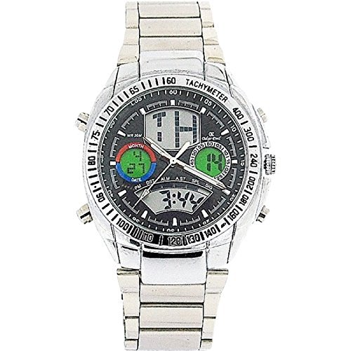 Oskar Emil Gents Austin Digital-Analogue LED Calendar Stainless Steel Watch