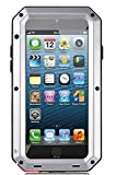 iPhone 5/5S Case, X-CASE Extreme Hard Military Heavy Aluminum Metal Armor Tank Gorilla Glass Shockproof Rainproof Water Resistant Weatherproof Dust/Dirt/Snow Proof Anti-smudge Resistant Acoustic Port Protection Cover Case For iPhone 5/5S (silver)