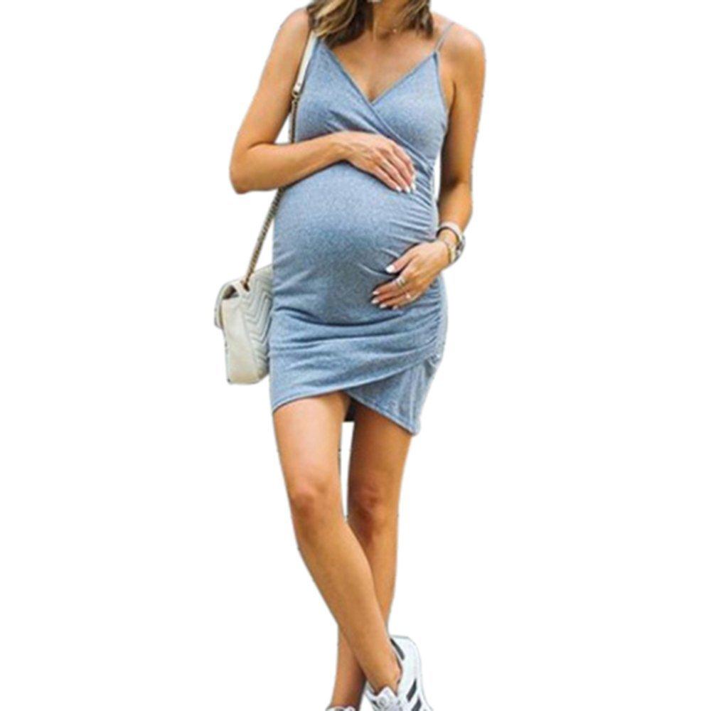BubbleKiss Women's Nursing Tank Dress for Maternity Cami Sleeveless Comfy Breastfeeding Midi Dress