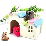 Dwarf Hamsters House DIY Wooden Gerbil Hideout