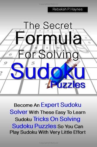 Secret Formula Solving Sudoku Puzzles