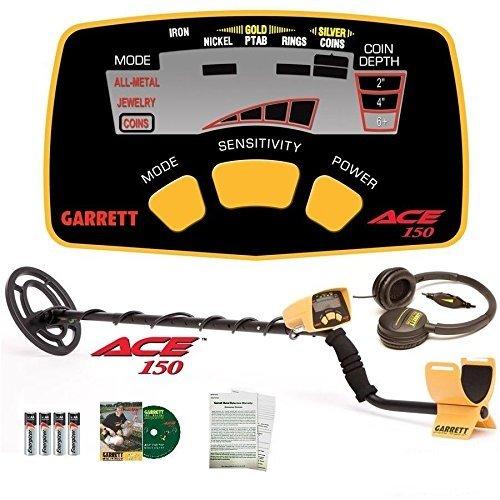 Garrett Ace 150 Metal Detector with Waterproof Coil NIB + HEADPHONES by Garrett