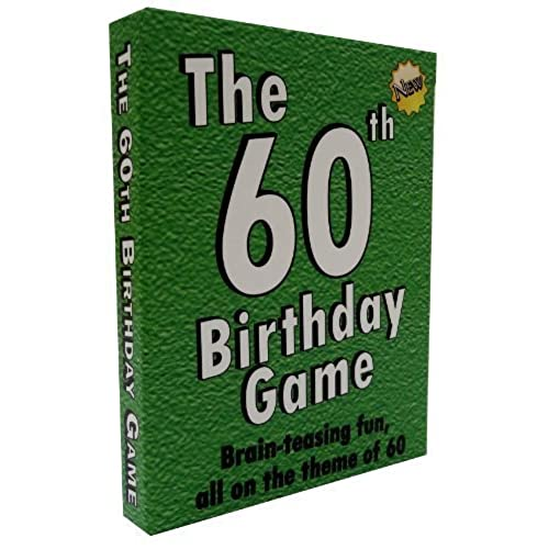 The 60th Birthday Game Fun New Party Idea Also Suitable As A Sixtieth Gift For Men Or Women
