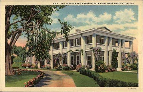 The Old Gamble Mansion Ellenton, Florida Original Vintage - Ellenton Florida
