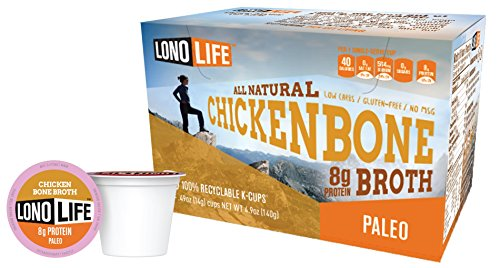 LonoLife Chicken Bone Broth, 8 Gram (10 Count)