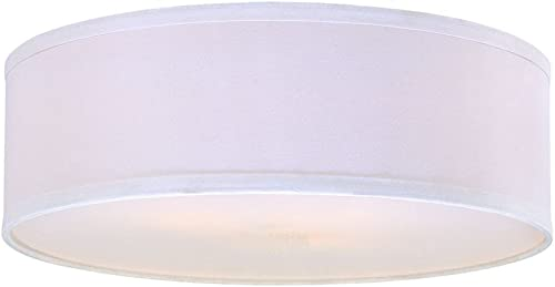 White Linen Drum Lamp Shade
